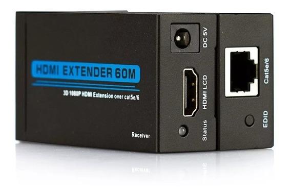 Extensor Hdmi Cat-5e 60 Metros 3d 1080p Hd60m