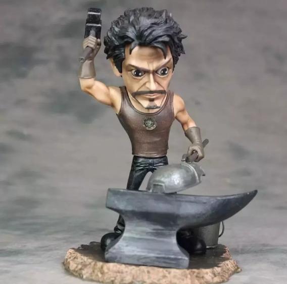 Boneco Tony Stark Homem De Ferro Com Forja Led Reator