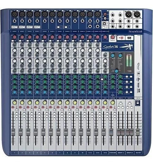 Mesa De Som 16 Canais Soundcraft Signature 16 Usb Interface