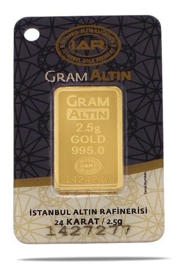 Lingote De Oro 2.5 Gramos De 24 Kilates Oro Fino Gramaltin
