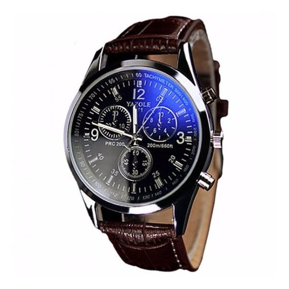 Relógio Masculino Yazole 271 Fundo Azul Barato