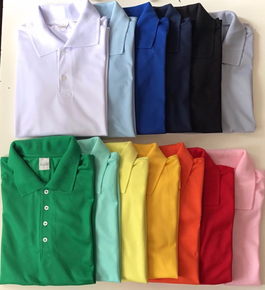 Camisa Polo Masculina 100% Poliester Lote 10pc