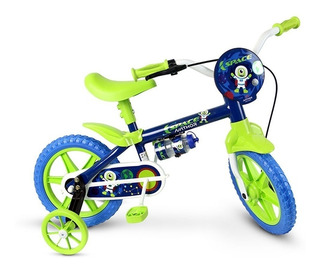 Bicicleta Infantil Aro 12 Menino Nathor Masculina Space