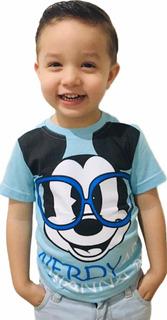 Kit 5 Camiseta + 5 Chaveiros Infantil Personagem Manga Curta