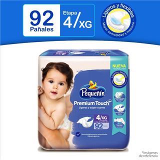 Pañales Pequeñín Premium Et4x92 - Unidad a $846