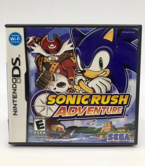 Sonic Rush Adventure Nintendo Ds Original Americano Completo