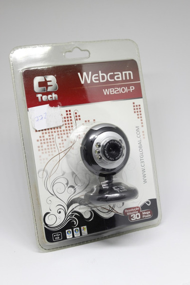 Webcam C3tech Wb2101-p Preta/prata