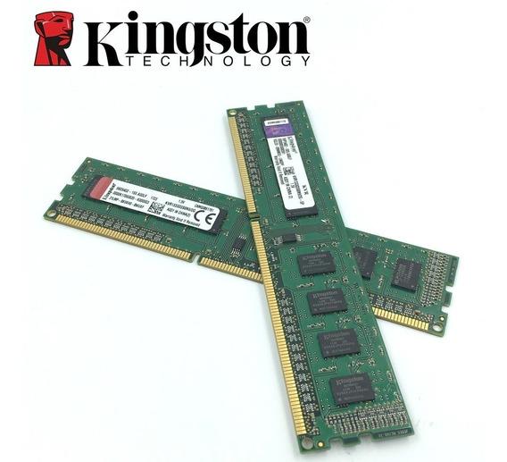 Kit 02 Memoria Kingston Ddr2 2gb 800mhz 4gb 2+2bg Promoção