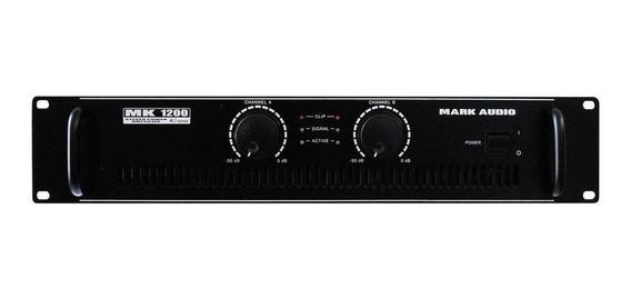 Amplificador Potência Mark Audio Mk-1200 200wrms 4 Ohms