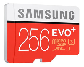 Cartao Samsung Micro Sdxc 100mb/s 4k 256gb Galaxy Note7 A9