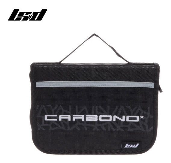 Cartuchera Carbono Escolar Rigida 83862 Negro