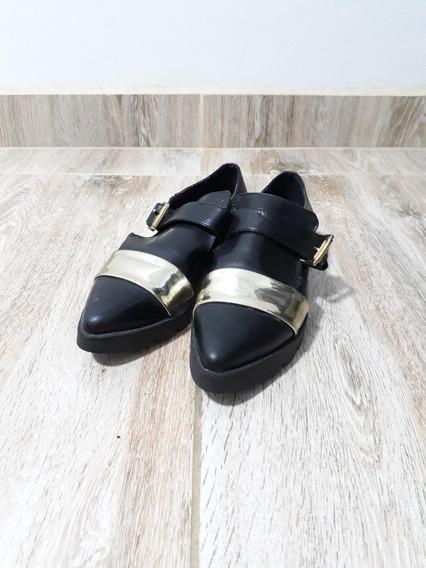 Sapato Feminino Preto Dockside Mundial Mocassim