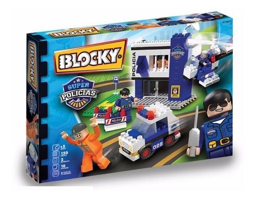 Blocky Super Policias 150 Ladrillos Bloques 01-0671 Edu Full