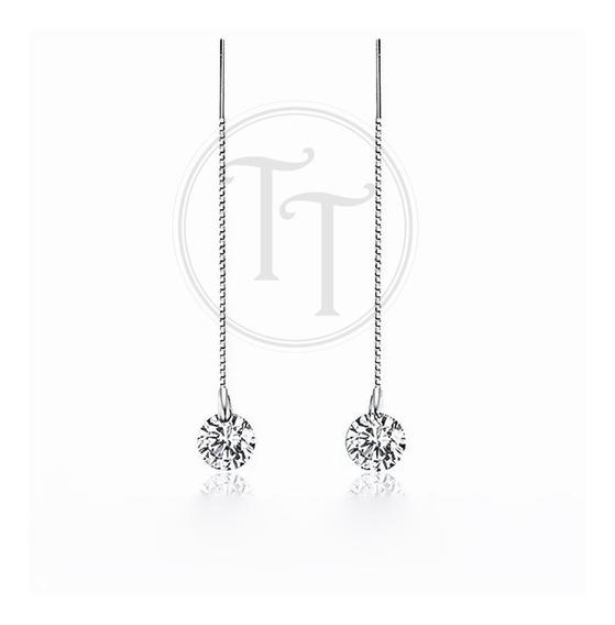 Aretes Plata Esterlina 925 Swarovski Cor Diamante Violador