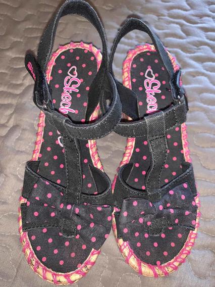 Preciosas Sandalias Skechers Con Taco! Talle 29 Impecables!