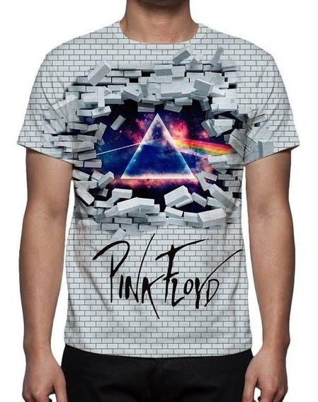 Camisa, Camiseta Pink Floyd 3d - Promoção
