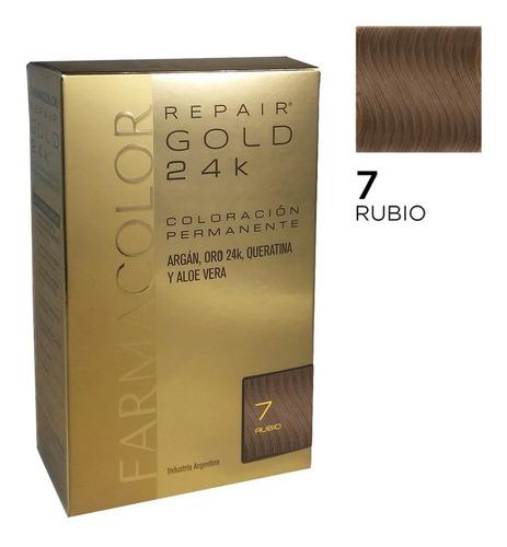 Farmacolor R Gold Rubio N° 7 X 1 Estuche. De Fábrica.