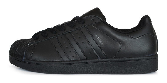 zapatillas adidas superstar negras