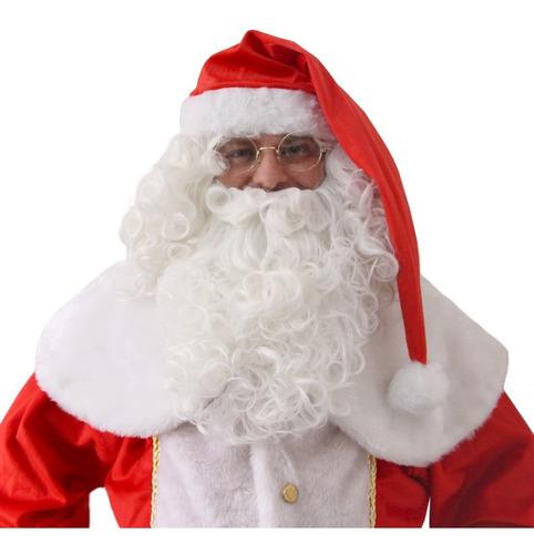 Gorro Papai Noel Super Luxo Adulto Veludo Modelo Premium
