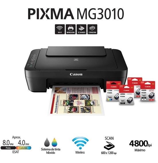 Impressora Canon Multifuncional Pixma Mg3010 S/cartuchos