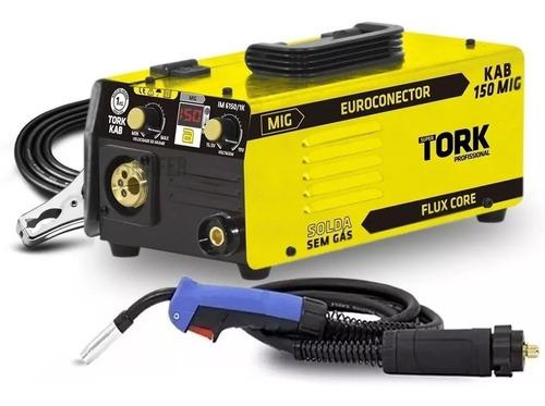 Inversora De Solda Mig Sem Gas Super Tork Kab 150 Mig 220v