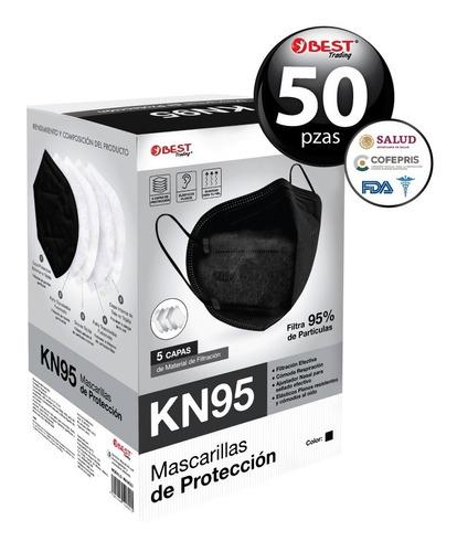 Imagen 1 de 6 de 50 Pzas Cubrebocas Kn95 Certificado Tapabocas 5 Capas