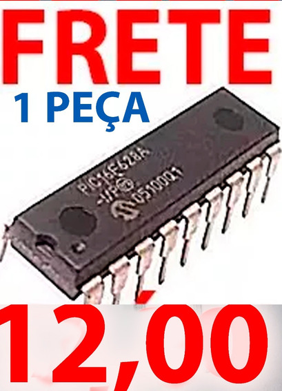 1 Pç Ver 2ªfoto Carta Reg Pic16f628a 16f628a Pic16 Dip18 C2