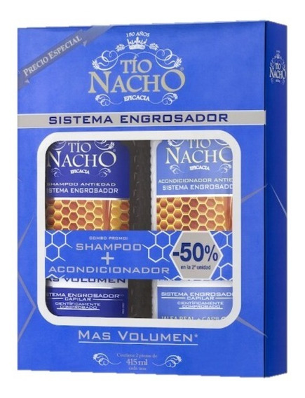 Tio Nacho Kit Shamp + Acond Engrosador Magistral Lacroze