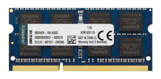 Memoria RAM 8 GB 1x8GB Kingston KVR16S11/8