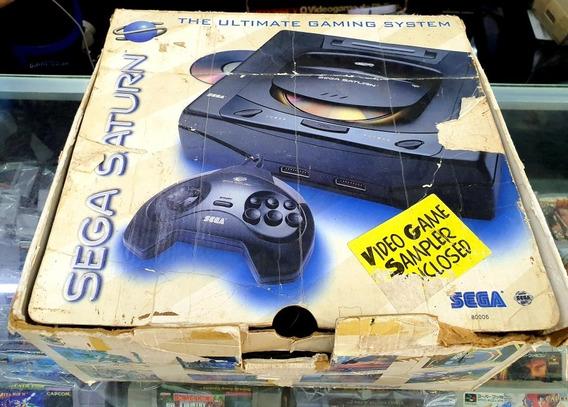 Sega Saturn 1 Controle Manuais Caixa Cabo Av