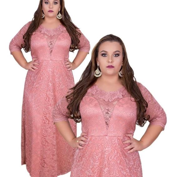 Vestido Plus Size Festa, Vestido Senhora Plus Size Longo