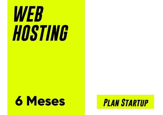 Web Hosting - Plan Startup - Wordpress - Ssl - $233 X Mes