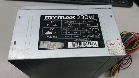 Fonte Atx 24 Pinos + Sata Mymax Mpsu/230wpc