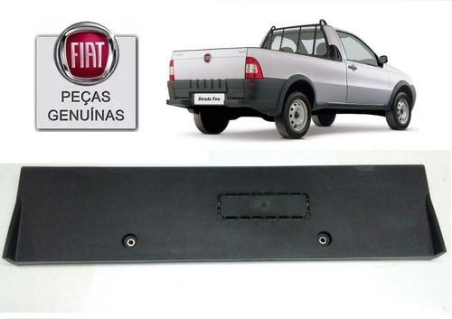 Suporte De Placa Original Fiat Strada 2004 Até 2013 Todas