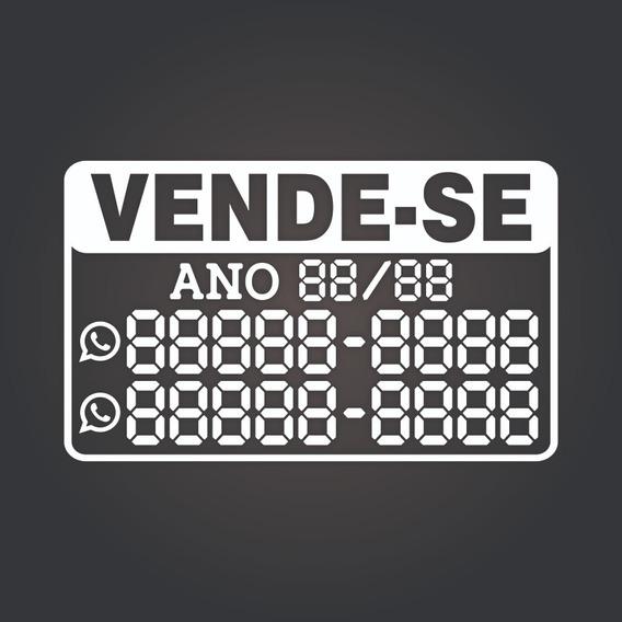 Adesivo Vende-se Carro (preencha Você Mesmo) 30x20cm - 01 Un
