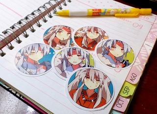 Set De 6 Stickers Circulares De Anime - Inuyasha