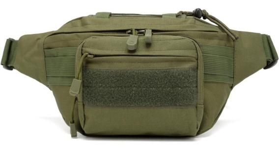 Riñonera Estilo Militar Belt Bag Liso