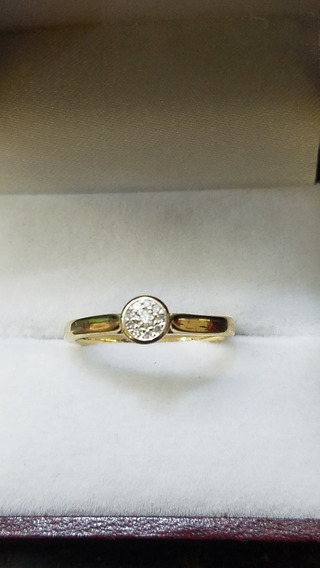 Anillo De Oro14k Bizzarro Con Diamantes