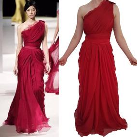 Lindo Vestido Estilo Grego Vestidos Vermelho Com O