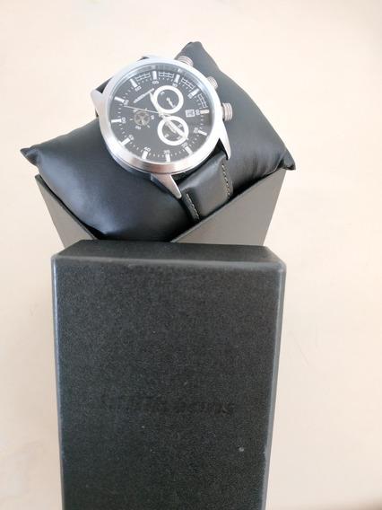 Relógio Pulseira De Couro, Chillibeans
