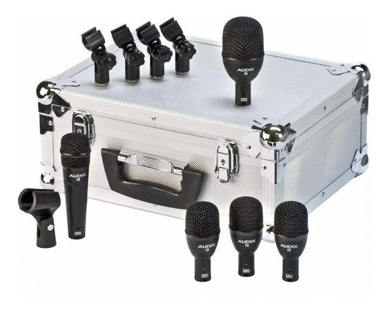 Audix Fp5 - Kit P/ Bateria Com 5 Microfones Da Série Fusion