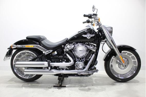 Harley Davidson Fl Fb Fat Boy 107 2020 Preta - Baixo Km