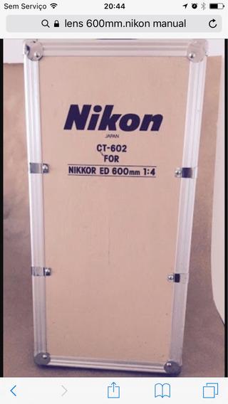 Lente Nikon 600mm Manual