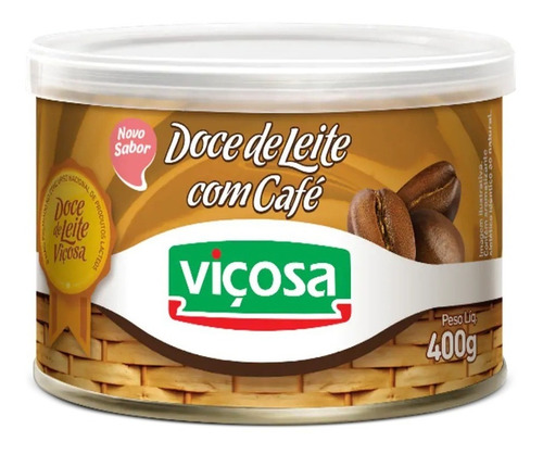 Imagem 1 de 3 de Doce De Leite Viçosa Com Café 400g.