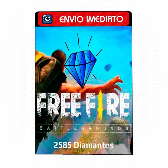 Free Fire Garena Freefire 2585 Diamantes Recarga Na Conta