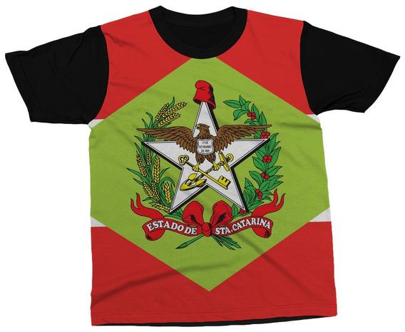 Camiseta Santa Catarina Estado Brasil Bandeira Blusa Camisa