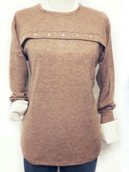 Remera Angorina Sweater Talle 3 Al 6 Talle Grande Especial