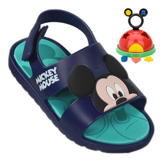 Sandália Infantil Grendene Mickey E Minnie Baby Com Brinquedo 21996 | Radan Esportes