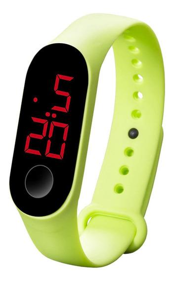 Relógio Led Digital Esporte Bracelete Led Adulto Infantil Barato Com Touch