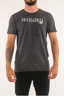 Camiseta Corte A Fio Estampa Relevo